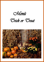 Menu Trick or Treat